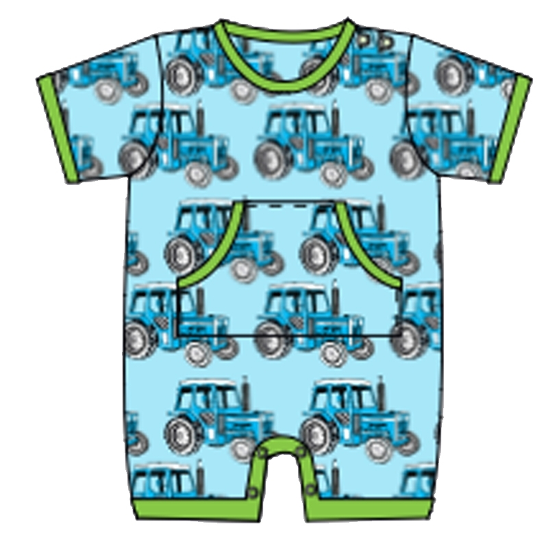 Jumpsuit short with pocket Snoozy, Tractor 50-56