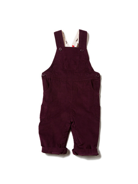 Dungeree, overall Little Green Radicals, Plum classic Corduroy met lining!