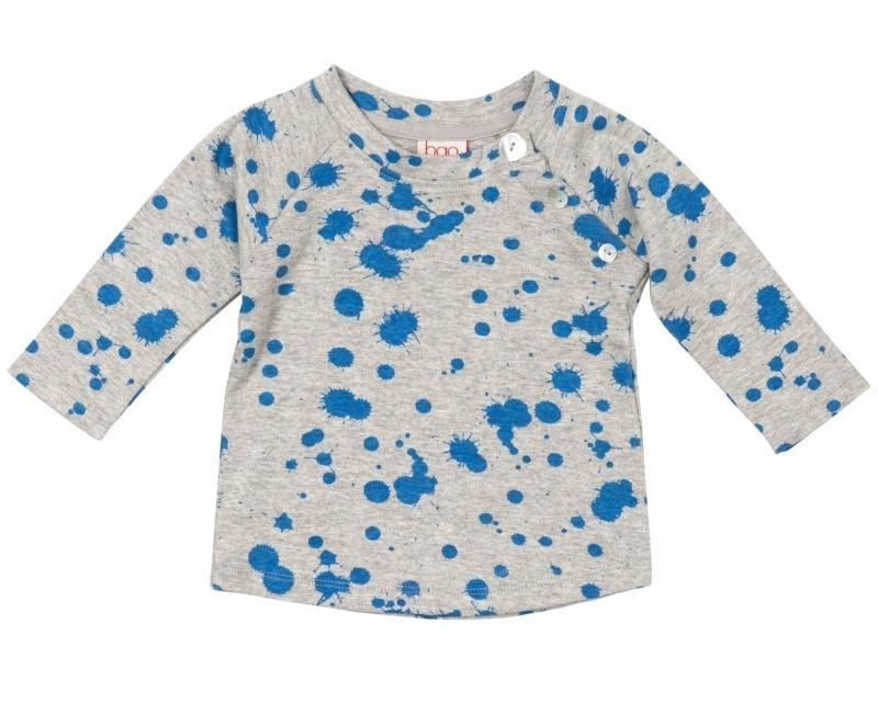 T-shirt long Baobab, Spotch blue 3-6mnd