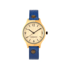 MEN BAMBOO watch SINGLE with LEATHER or CORK strap with numbers (3-6-9-12)