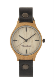 MEN BAMBOO watch SINGLE with LEATHER or CORK  strap  without numbers