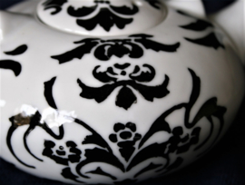 Theepot - Japanse Stijl - Zwart-Wit