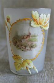 Antieke Set van Opaline Glas