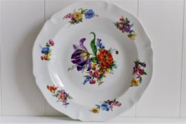 Frankrijk - Limoges - Floraal - Paarse Tulp - Diep Bord