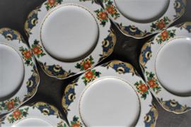H & K - Bloemmotief-Guirlande - Ontbijtbord