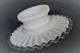 Lampenkapje - Opaline - Geplooid - Wit