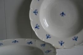 België - Boch - Tulp Korenbloemblauw - Diep Bord - Used Quality