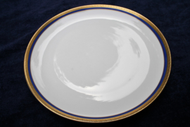 Königlich pr. Tettau - Kobalt/Goud - Ontbijt- of Dessertbord