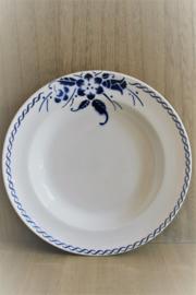 België - Boch - Koningsblauw Bloem - Diep Bord