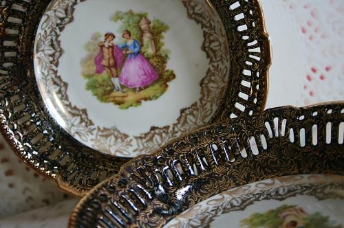 Prachtig oude koekschaal van J.G. & Z.