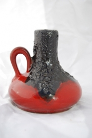 Red fat lava pitcher vase- Roth / Marei