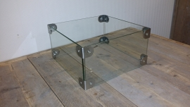 Glazen ombouw voor een tafelhaard van 29cm x 29cm