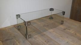 Glazen ombouw voor een tafelhaard van 50cm x 19cm