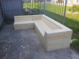 Loungebank LOW met hocker