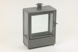 Lantaarn / Windlicht metaal met deurtje en ophangoog