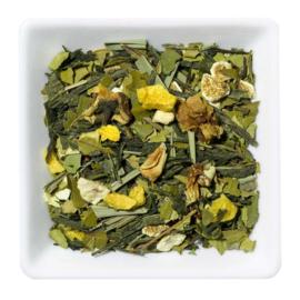 Groene thee met gember en citroen