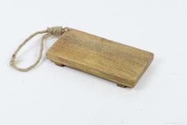 Klein serveer plankje 20 x 10 cm