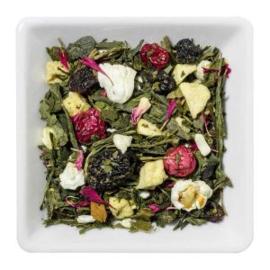 Groene thee met yoghurt amarene kersen