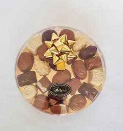 bonbondoos transparant, 15 cm, gevuld met heerlijke bonbons