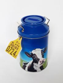 Koeien drop, melkblik met koeien snoep gevuld