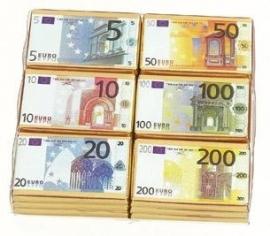Euro Bankbiljetten chocolade