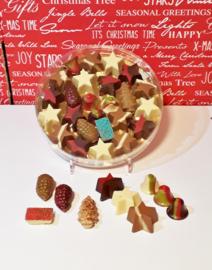 Kerstchocolade in ronde doos, 21 cm