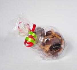Snoeppot gevuld met 450 gram vanille/chocolade room fudge