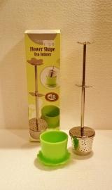 Thee filter met knijper en lekbakje