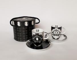 Set espresso kopjes in luxe doos, zwart