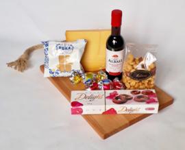 Kaas, noten, wijn pakket 2