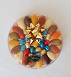 Luxe doos 21 cm, gevuld met bonboneieren en Belgische eitjes