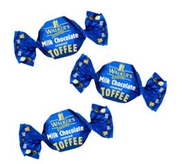 Walkers toffee's Melkchocolade met toffee, 200 gram
