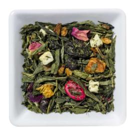 Groene thee met zongerijpte druiven