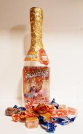 Champagne fles met verjaardag spel