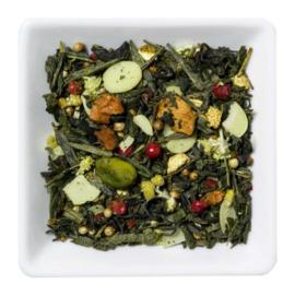 Groene thee met vruchten