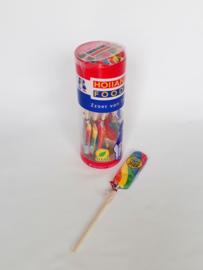 Kindertraktatie: 16 lange lolly's, per stuk verpakt: Coronaproof