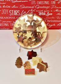 Kerstchocolade in ronde doos, 15 cm