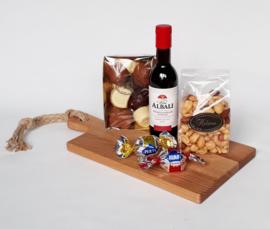 Noten / wijnpakket met chocolade