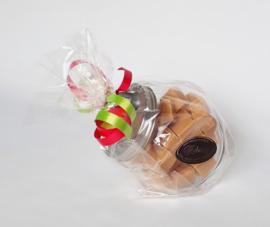 Snoeppot gevuld met 450 gram vanille room fudge
