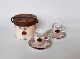 Set espresso kopjes in luxe doos, bruin
