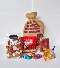 "Sinterklaas pakket ""Jute zak"" 3 ( uitverkocht)"