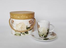 Espresso kopje in luxe doos, bloem