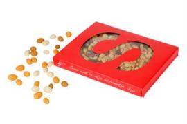 Notenletter S gevuld met 300 gram notenmix, gezouten
