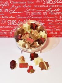 Kerstchocolade in ronde doos, 17 cm