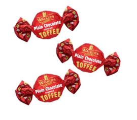 Walkers toffee's Puur chocolade met toffee, 200 gram
