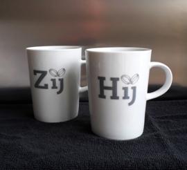 Set koffie / theemokken, hij en zij