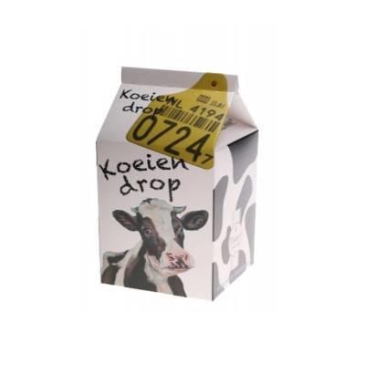 Koeiendrop: leuk melkpak gevuld met koeiendrop