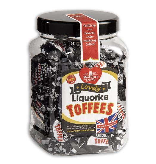 Pot met toffee's , drop