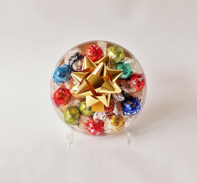 Luxe doos gevuld met Lindt ballen, 15 cm