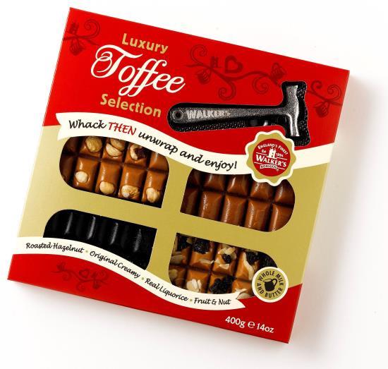 Toffee pakket met hamertje, 400 gram